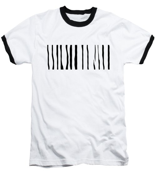 Organic No 12 Black And White Line Abstract Baseball T-Shirt