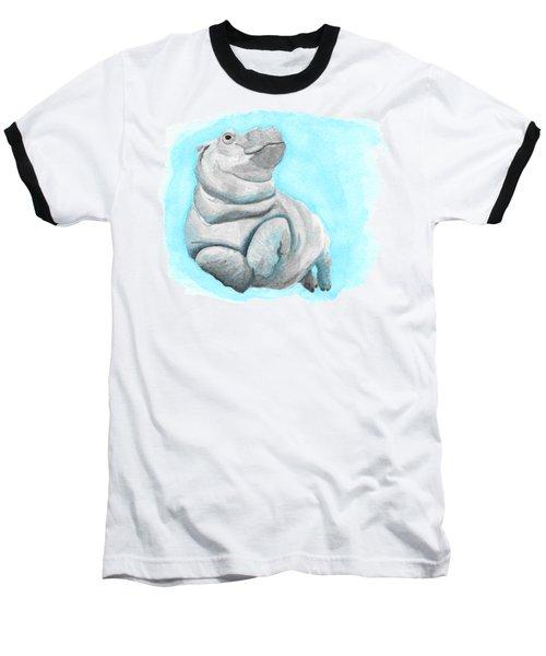Baby Hippo Underwater Fantasia Ballet Baseball T-Shirt