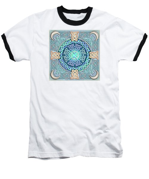 Baseball T-Shirt featuring the mixed media Celtic Eye Of The World by Kristen Fox