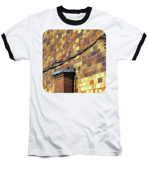 Bricks And Wires Baseball T-Shirt by Ethna Gillespie