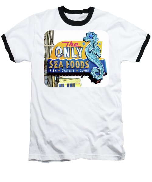 Cafe Sign Baseball T-Shirt by Ethna Gillespie