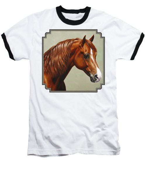 Morgan Horse - Flame Baseball T-Shirt