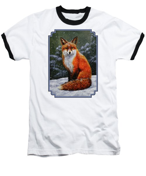 Snow Fox Baseball T-Shirt