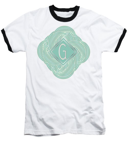 1920s Blue Deco Jazz Swing Monogram ...letter G Baseball T-Shirt
