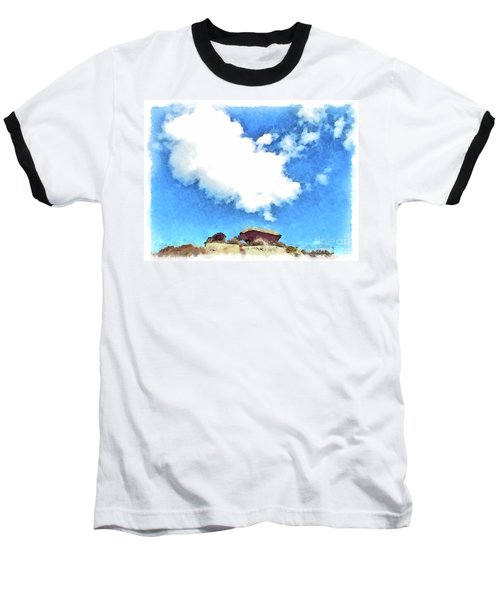 Arzachena Mushroom Rock With Cloud Baseball T-Shirt