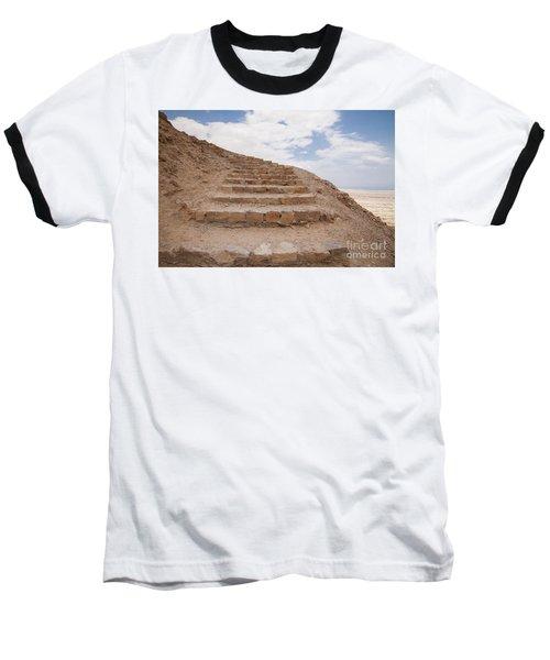 Stairway To Heaven - Masada, Judean Desert, Israel Baseball T-Shirt by Yoel Koskas