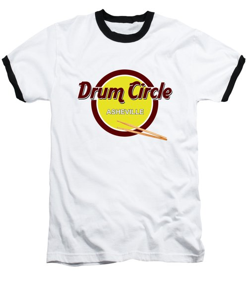 Asheville Drum Circle Logo Baseball T-Shirt