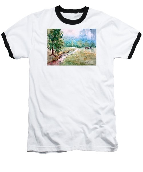 Baseball T-Shirt featuring the painting Aska Farm Creek by Gretchen Allen