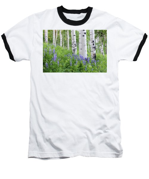 Aspen And Lupine Baseball T-Shirt