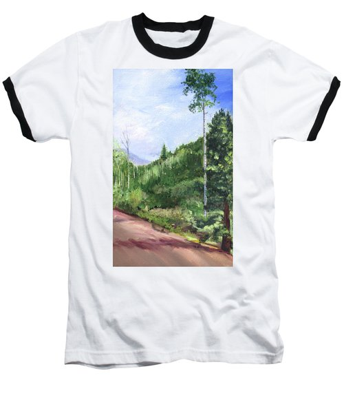 Aspen Heaven Baseball T-Shirt by Jane Autry