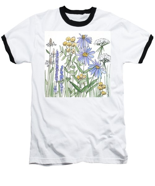 Asters And Wildflowers Baseball T-Shirt