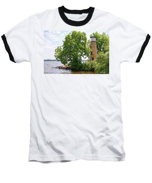 Asylum Point Lighthouse 1 Baseball T-Shirt by Trey Foerster