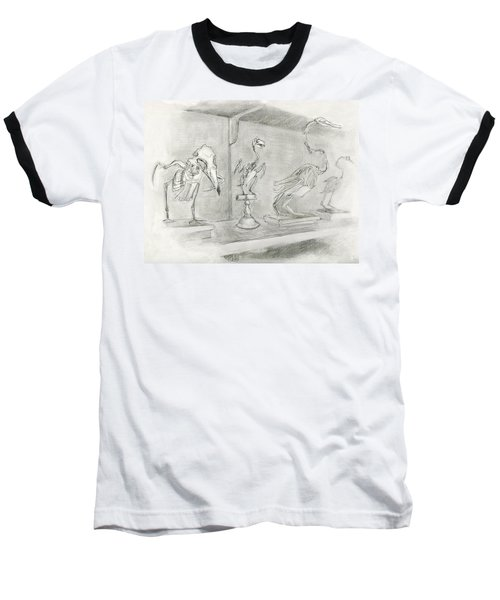 Bird Skeletons Baseball T-Shirt
