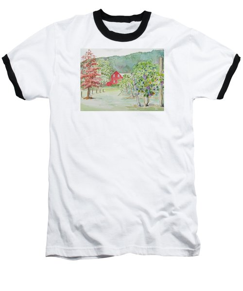 At The Winery Baseball T-Shirt by Christine Lathrop