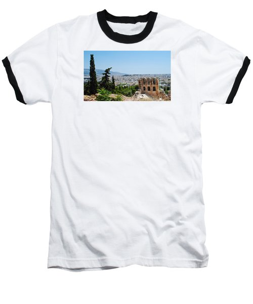 Athens From Acropolis Baseball T-Shirt