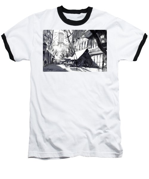 Athens Morning Walk Mono Baseball T-Shirt