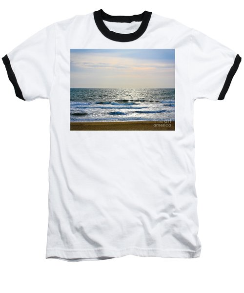 Atlantic Sunrise - Sandbridge Virginia Baseball T-Shirt