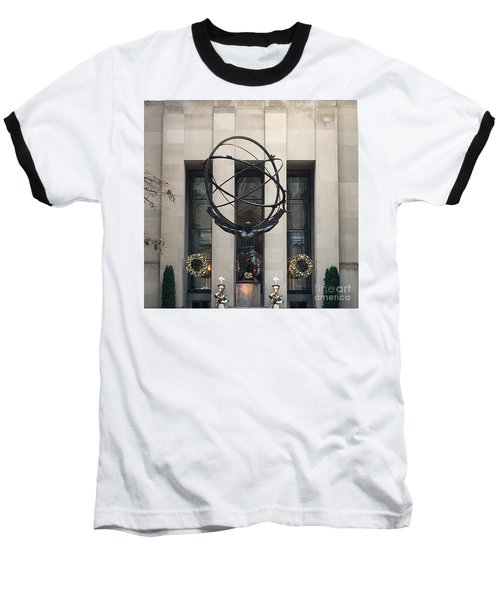 Atlas Statue Baseball T-Shirt
