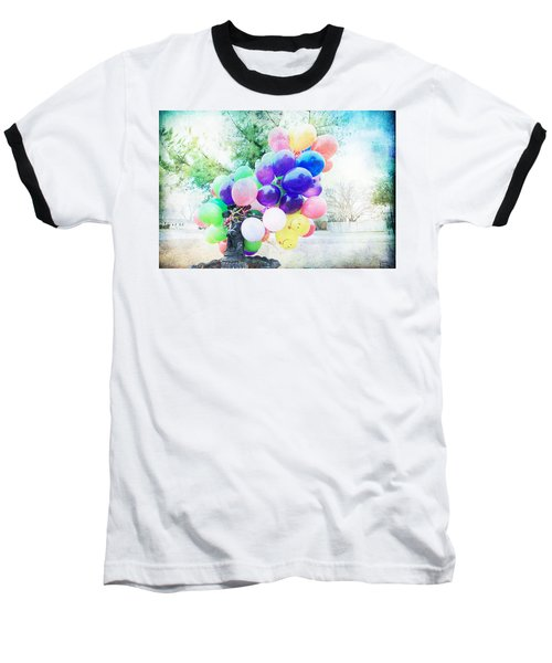 Baseball T-Shirt featuring the photograph Smiley Face Balloons by Toni Hopper