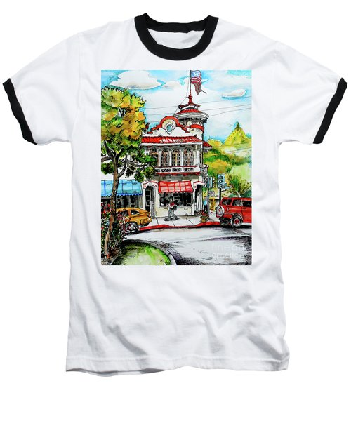 Baseball T-Shirt featuring the painting Auburn Historical by Terry Banderas