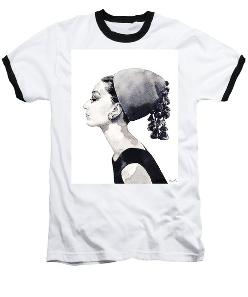 Audrey Hepburn For Vogue 1964 Couture Baseball T-Shirt