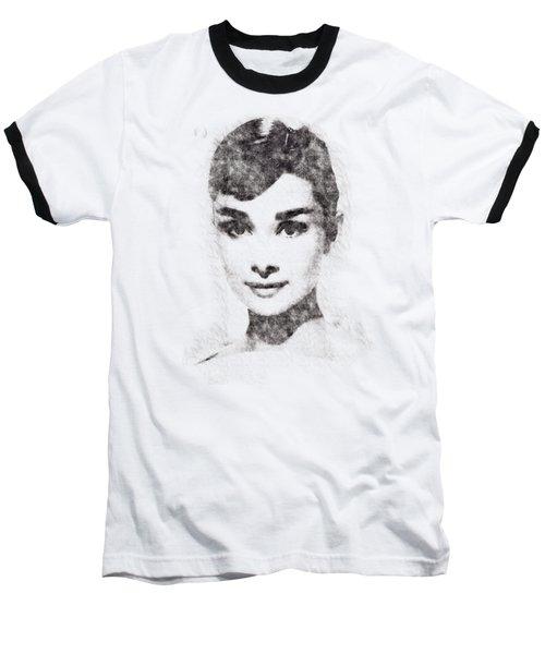 Audrey Hepburn Portrait 02 Baseball T-Shirt
