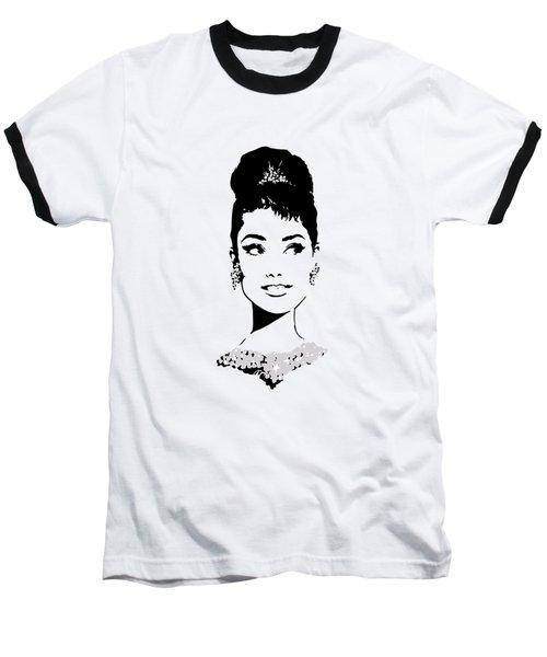 Audrey Baseball T-Shirt by Rene Flores