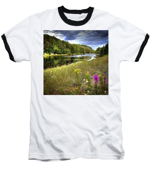 Baseball T-Shirt featuring the photograph August Flowers On The Pond by David Patterson