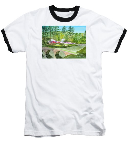 Baseball T-Shirt featuring the painting Augusta National Golf Course 12th Hole by Bill Holkham