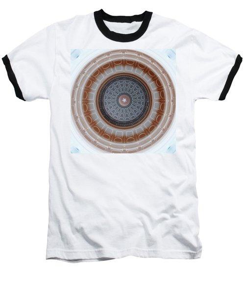 Austin Dome In Gray/brown Baseball T-Shirt by Karen J Shine