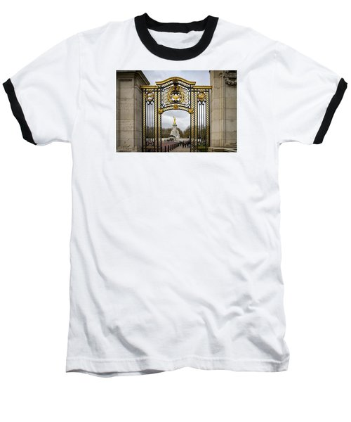Australia Gate Towards Queen Victoria's Statue Baseball T-Shirt by Shirley Mitchell