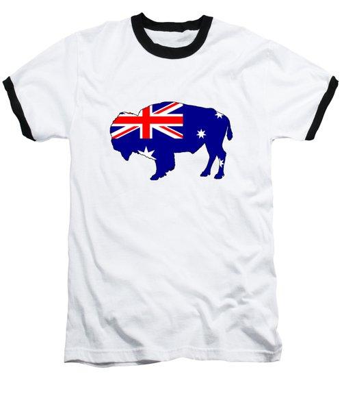 Australian Flag - Bison Baseball T-Shirt