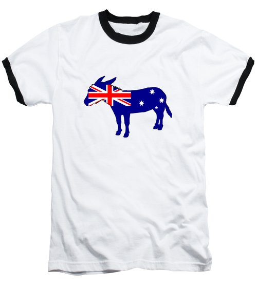 Australian Flag - Donkey Baseball T-Shirt by Mordax Furittus