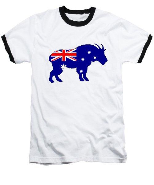 Australian Flag - Mountain Goat Baseball T-Shirt by Mordax Furittus