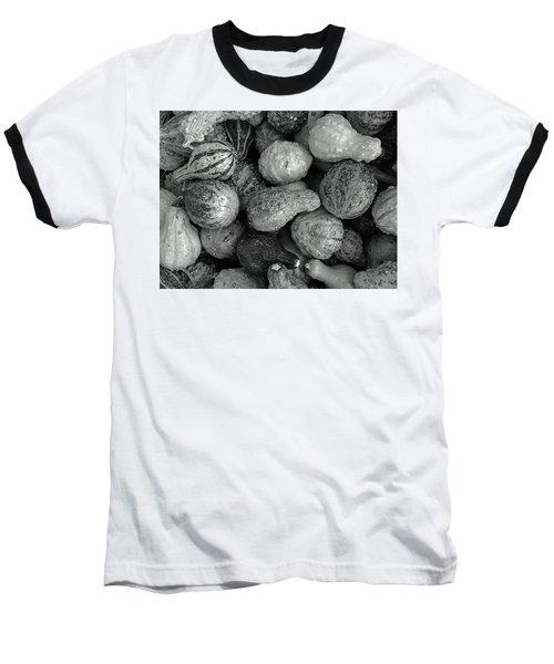 Autum Pumpkin Bw Baseball T-Shirt