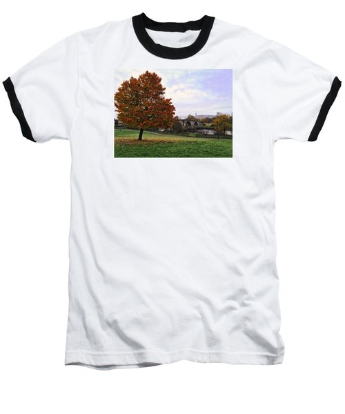 Autumn At Stirling Bridge Baseball T-Shirt by RKAB Works