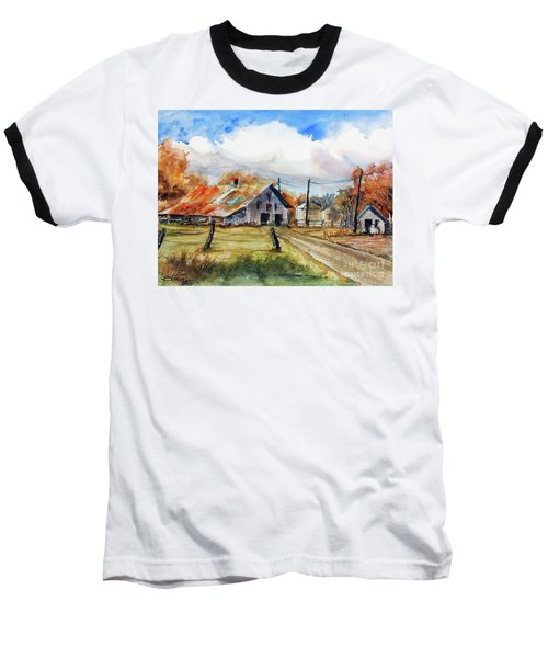 Autumn At The Farm Baseball T-Shirt