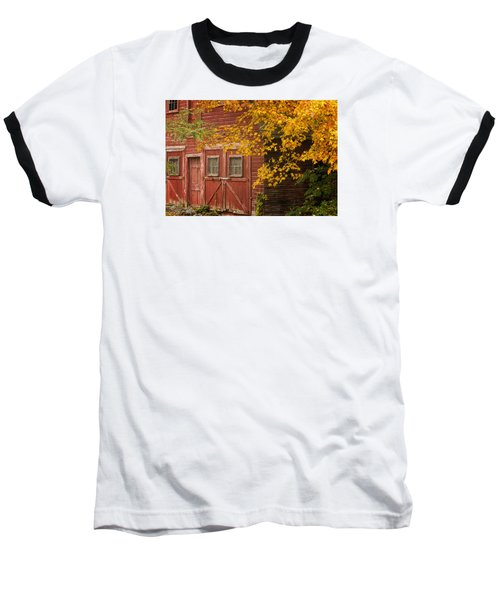Baseball T-Shirt featuring the photograph Autumn Barn by Tom Singleton