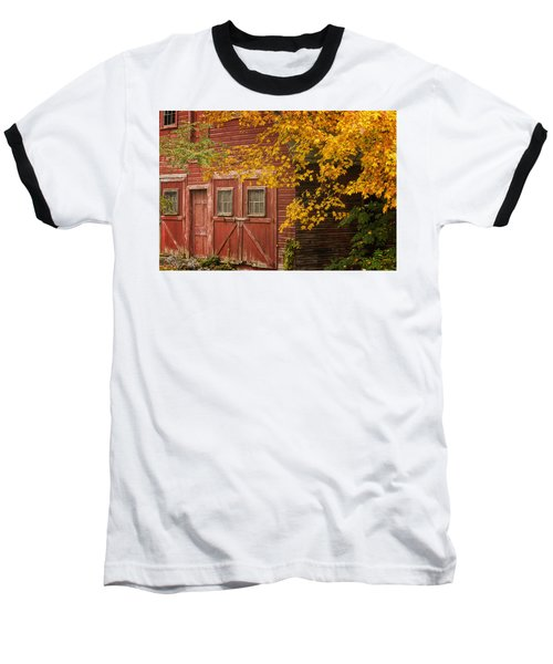 Autumn Barn Baseball T-Shirt