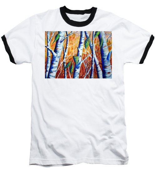 Autumn Birch Baseball T-Shirt