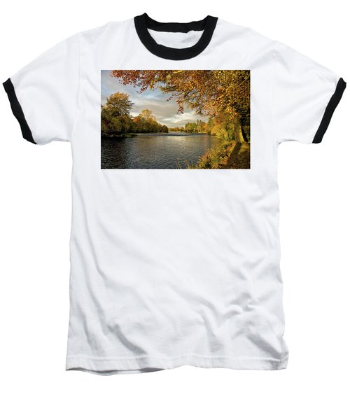 Autumn By The River Ness Baseball T-Shirt by Jacqi Elmslie