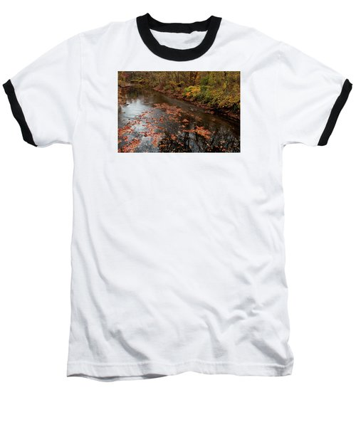 Autumn Carpet 003 Baseball T-Shirt by Dorin Adrian Berbier