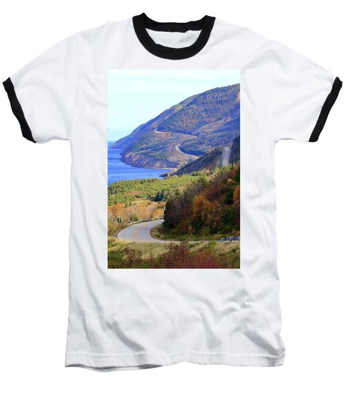 Autumn Color On The Cabot Trail, Cape Breton, Canada Baseball T-Shirt