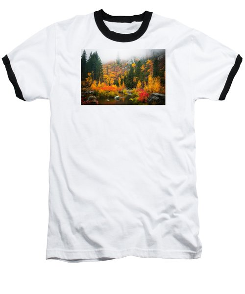 Baseball T-Shirt featuring the photograph Autumn Colors Symphony by Dan Mihai