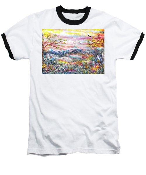 Autumn Country Mountains Baseball T-Shirt