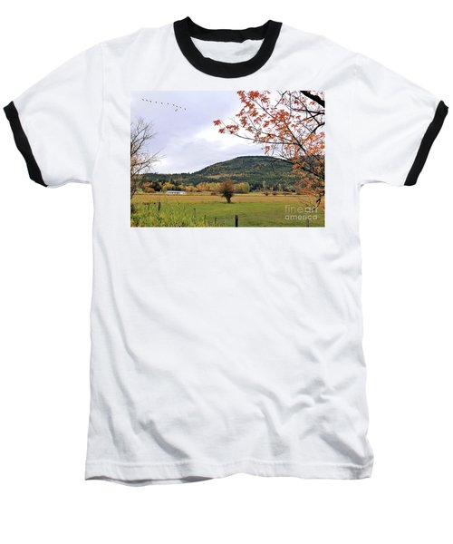 Autumn Country View Baseball T-Shirt
