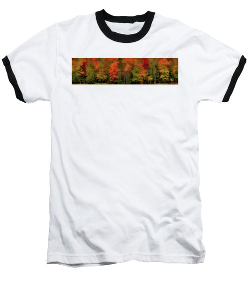 Autumn Fence Line Baseball T-Shirt