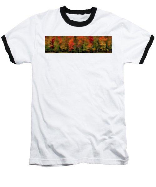 Autumn Fence Line Baseball T-Shirt
