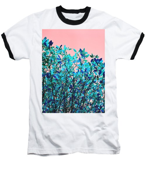 Baseball T-Shirt featuring the photograph Autumn Flames - Peach by Rebecca Harman