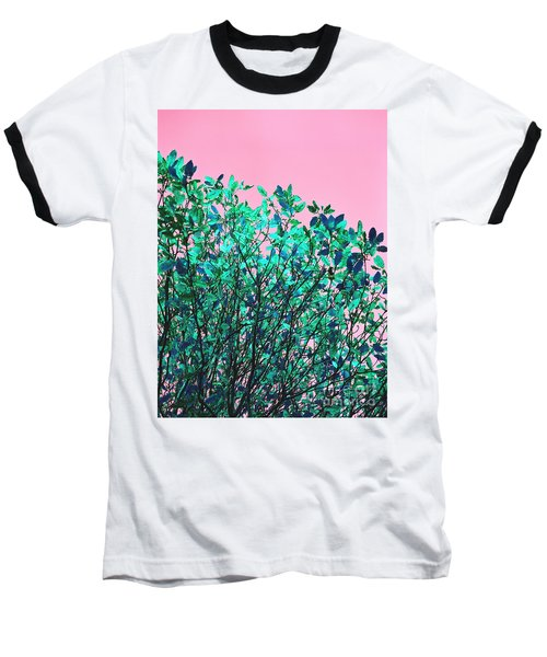 Baseball T-Shirt featuring the photograph Autumn Flames - Pink by Rebecca Harman